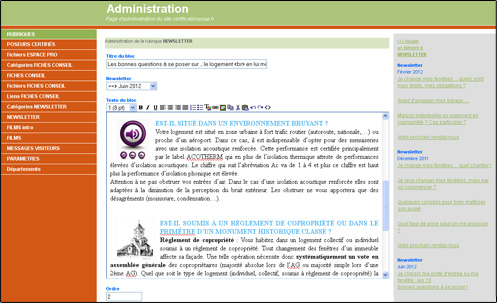 Back office s curis simple d utilisation pour l 39 administration de votre site cr ation sites - Back office site internet ...